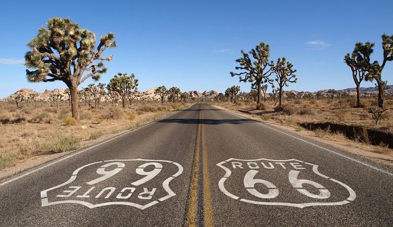 An der Kreuzung zur Stadt Chambers fuhr ich schließlich auf die berühmt berüchtigte Route 66 auf. Ich hielt mich so lange auf der Route 66 bis ich den Petrified Forest in der Näher der City Holbrook erreichte. (#03)