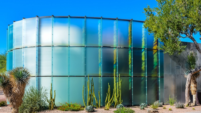 Das Scottsdale's Museum of the West beherbergt viele Ausstellungsstücke aus der Wild West Zeit und beeindruckt bereits mit seiner architektonisch aufwändig gestalteten Fassade. (#04)