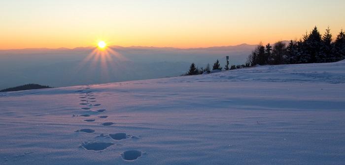 Schneeschuhe & Auvergne: Motorhomes im Winter